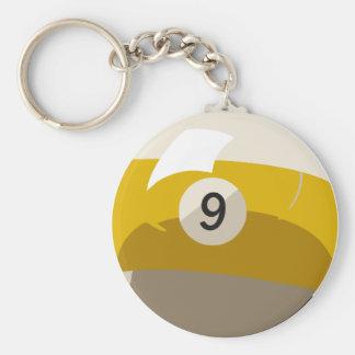 Nine Ball Key Chain