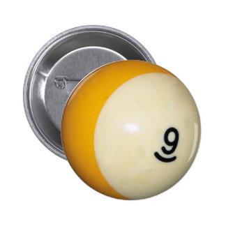 Nine Ball Pinback Button