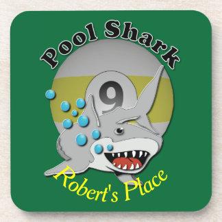 Nine Ball Pool Shark Drink Coasters