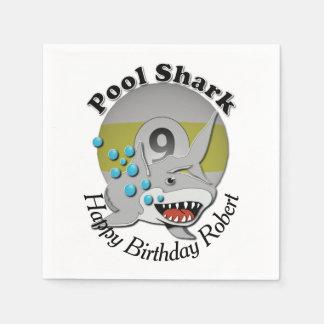 Nine Ball Pool Shark Paper Napkin
