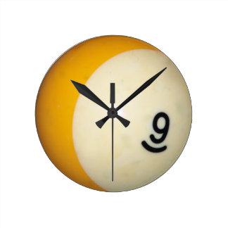 Nine Ball Round Clock