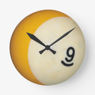 Nine Ball Round Clock