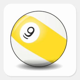 Nine Ball Square Sticker