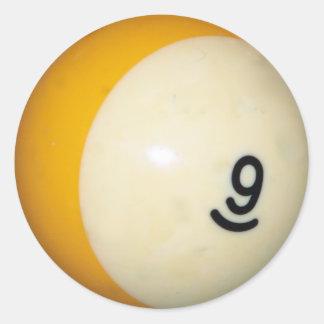 Nine Ball Classic Round Sticker