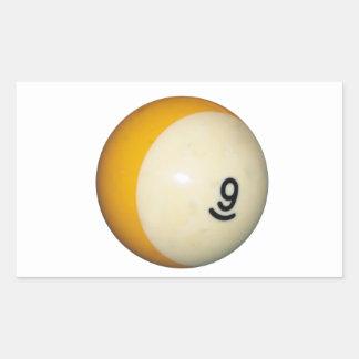Nine Ball Rectangular Sticker