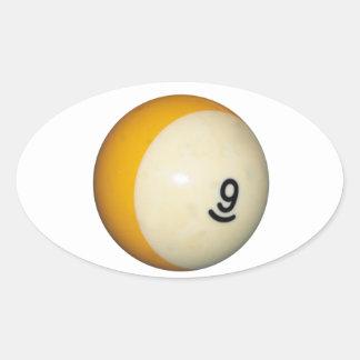 Nine Ball Oval Sticker