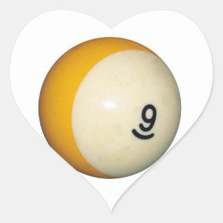 Nine Ball Heart Sticker