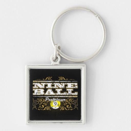 Nine Ball Vintage Design Key Chains