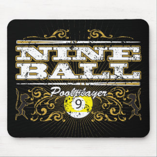 Nine Ball Vintage Design Mouse Pad