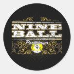 Nine Ball Vintage Design Stickers