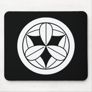 Nine bamboo leaves in circle mouse pad
