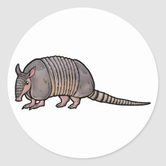 Nine Banded Armadillo Classic Round Sticker