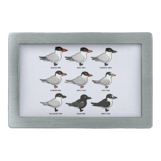 Nine Birdorable Terns (labeled) Rectangular Belt Buckles