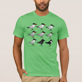 Nine Birdorable Terns (labeled) T-Shirt