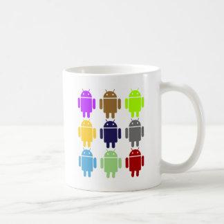 Nine Bug Droids (Android Multiple Colors Humor) Coffee Mug