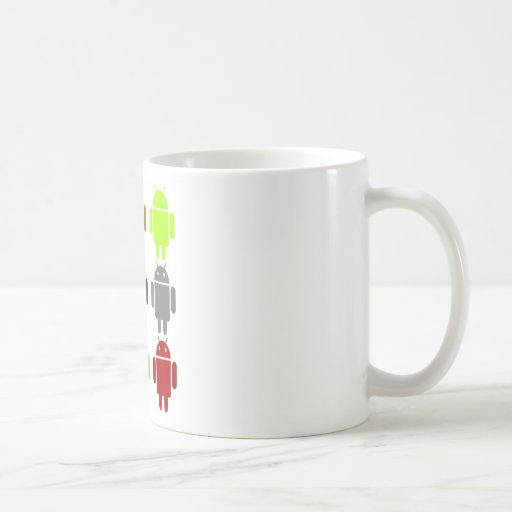 Nine Bug Droids (Android Multiple Colors Humor) Mug