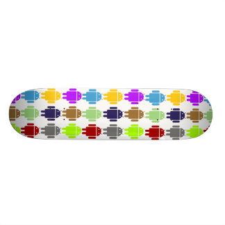 Nine Bug Droids (Android Multiple Colors Humor) Skate Decks