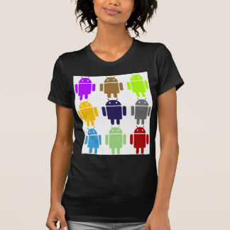 Nine Bug Droids (Android Multiple Colors Humor) T-shirt