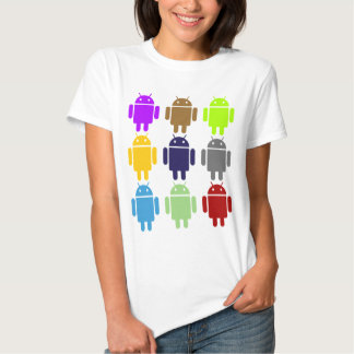 Nine Bug Droids (Android Multiple Colors Humor) Tee Shirt