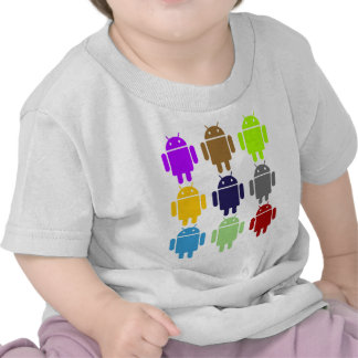 Nine Bug Droids (Android Multiple Colors Humor) Tees