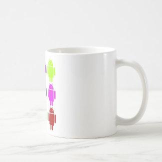Nine Bug Droids (Android Multiple Purple Colors) Coffee Mug