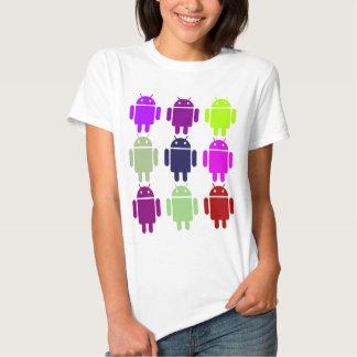 Nine Bug Droids (Android Multiple Purple Colors) T-shirt