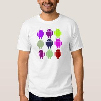 Nine Bug Droids (Android Multiple Purple Colors) T Shirt