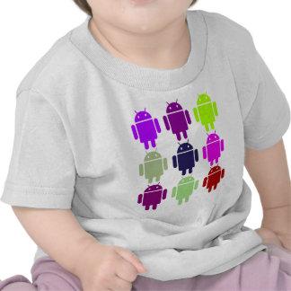 Nine Bug Droids (Android Multiple Purple Colors) Shirts