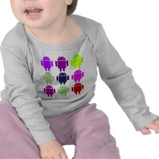 Nine Bug Droids (Android Multiple Purple Colors) T-shirts