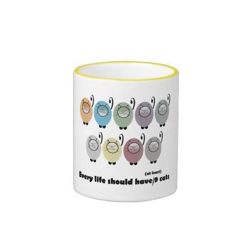 Nine Cats Gift Mug