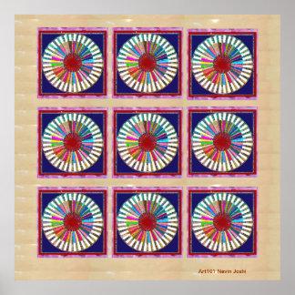 Nine Chakra - Dedication to 9 Roopa of Goddess Print