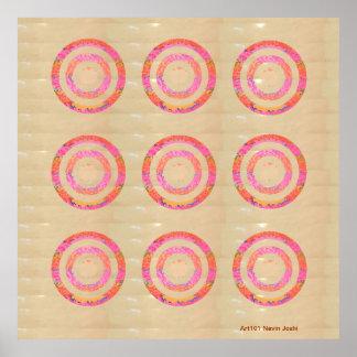 Nine Chakra - Dedication to 9 Roopa of Goddess Posters