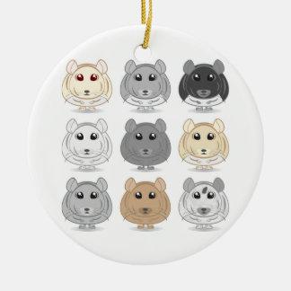 Nine Chinchilla Design Ornament