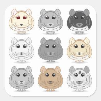 Nine Chinchilla Design Sticker