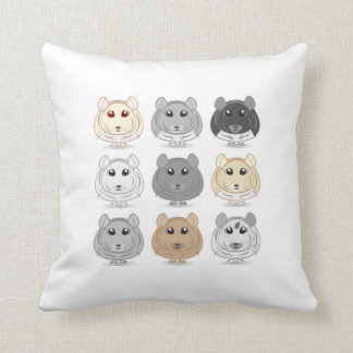 Nine Chinchilla Design Throw Pillow