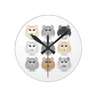 Nine Chinchilla Design Wall Clock