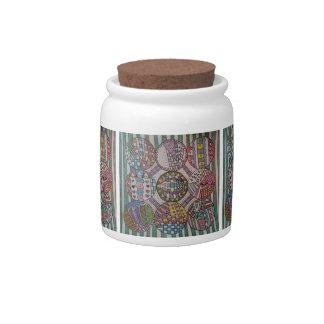 Nine Circles Design Candy Jar