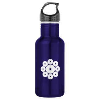 Nine coins for the Hasebe family 18oz Water Bottle