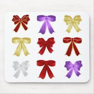Nine colourful bows mouse pad