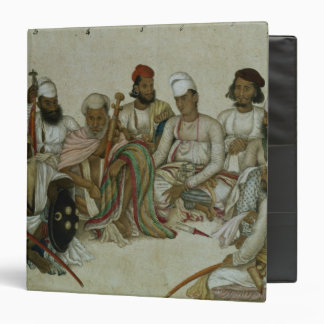 Nine courtiers and servants of the Raja Binder