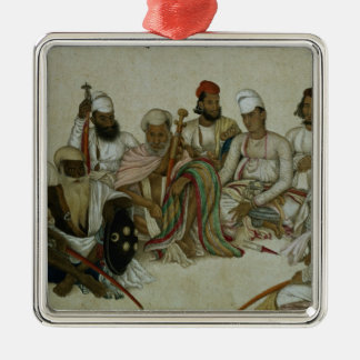 Nine courtiers and servants of the Raja Metal Ornament