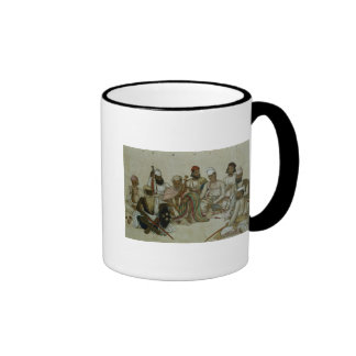 Nine courtiers and servants of the Raja Ringer Mug