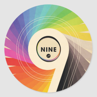 Nine Custom Sticker