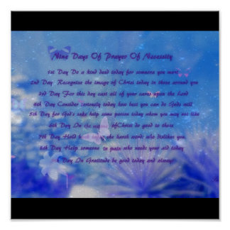 NINE DAYS OF necessity Good Thoughts For The Day Poster