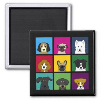 Nine Dogs Magnet