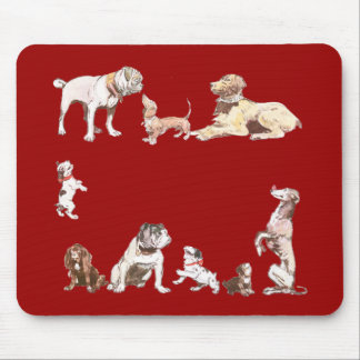 Nine Dogs Mouse Pad