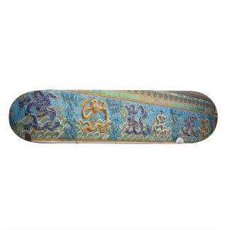Nine Dragon Wall Forbidden City Beijing Custom Skateboard