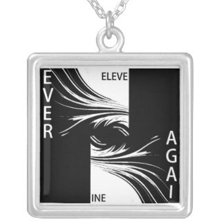NINE ELEVEN NEVER AGAIN SILVER PLATED NECKLACE