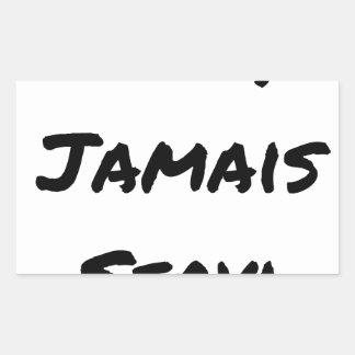 NINE, EVER SERVED - Word games - François City Rectangular Sticker
