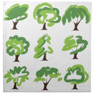 Nine Green Trees Cloth Napkin